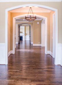 laminate floor in foyer of chicago home