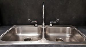 kitchen sink water damage